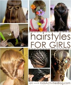 Lots of great resources for hairstyles for girls.