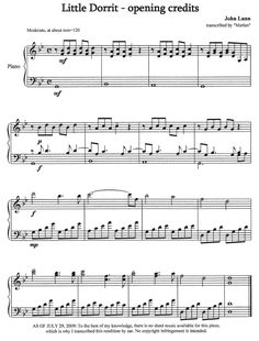 Little Dorrit opening credits sheet music! Classics To Read, British Period Dramas, Little Dorrit, Opening Credits, Madly In Love, Piano Sheet Music, Sound Of Music, Music Stuff, How To Memorize Things