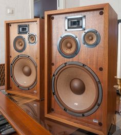 Golden Age Of Audio: Pioneer Speakers Hifi Speakers, Hifi Audio, Wooden Speakers, Equipment For Sale, Audio Equipment, Kenwood Audio, Pioneer Audio, Home Theater Sound System, Radios