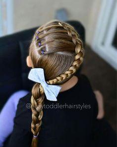 Girls Hairdos, Baby Girl Hairstyles, Cute Hairstyles, Braided Hairstyles, Hair Dos For Kids, Birthday Hair, Black Hair Care, Toddler Hair, Crazy Hair