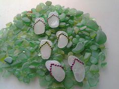 sea glass flip flop necklace - Google Search