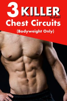 Pushups are perfect for developing chest size and strength. Use one of these three quick push up circuits to target your chest in less than 15 minutes! Workout Plan For Men, Gym Workout Tips, Gym Tips, Workout Plans, Plyometric Workout, Plyometrics, Calisthenics, Lifting Motivation, Fitness Motivation