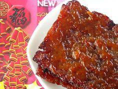 Nasi Lemak Lover: Homemade Chinese Pork Jerky (Bak Kwa) 肉干 - Can reduce the sugar to 90 grams.