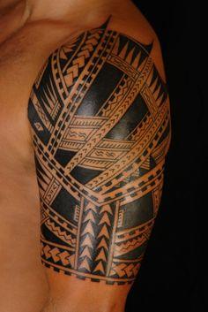Maori Tribal Sleeve Tattoos Design