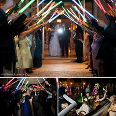 Bride and groom Star Wars lightsaber send off at wedding in Atlanta, Georgia. NO TRAVEL FEES IN THE US! Join Me On Facebook! www.facebook.com/matthewdruin.com    Twitter! www.twitter.com/matthewdruin   Atlanta Portrait Photographer www.matthewdruin.com