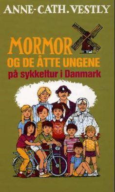 Mormor og de åtte ungene på sykkeltur i Danmark av Anne-Cath. Comic Books, Comics, Reading, Country, Beautiful, Rural Area, Reading Books, Cartoons, Cartoons