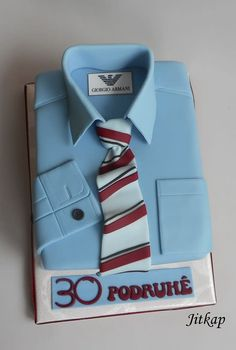 Shirt and tie cake by Jitkap