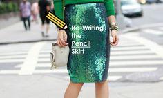 Re-writing the Pencil Skirt – Look Sleek, Not Secretary Secretary, Work Wear, Sequin Skirt, Pencil, Articles, Writing, Skirts, Blog, How To Wear