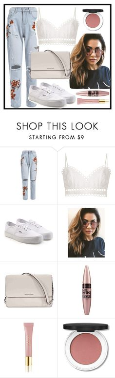 """Floral🌹"" by rosieju4 ❤ liked on Polyvore featuring Zimmermann, Vans, MINKPINK, Michael Kors, Maybelline and AERIN"