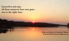 Farewell to this day - #haiku
