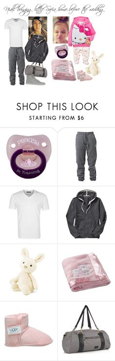 """Niall bringing little Sofia home"" by karolinebhn ❤ liked on Polyvore featuring Hummel, SELECTED, Gap, Hello Kitty, Carter's, UGG Australia, NIKE and Supra"