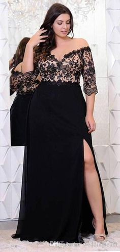 afa81ae99305 Plus Size Elegant Off Shoulder Party Dresses Lace Applique Floor Length  Dress for Women