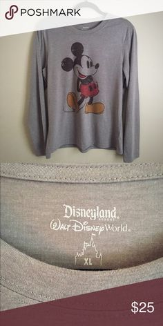 NWOT Vintage Style Mickey Mouse T-shirt Brand new, never worn. Purchased at Disneyland. Vintage style Mickey. Long-sleeved t-shirt. 65% Polyester, 35% Cotton. Machine wash. Disney Tops Tees - Long Sleeve