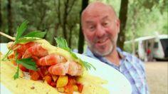 Scampibrochette met appel en currymousseline | VTM Koken