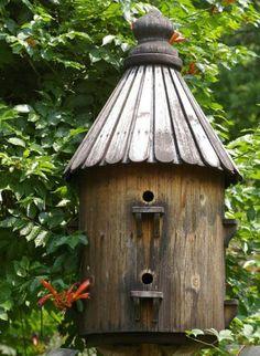 Rustic Round Bird house   Birdhouses