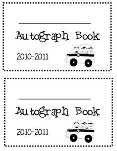 What a cute end of the year book for your children to sign for each other.  They can write their memories and remember their friends for years to c...