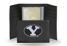 "Brigham Young BYU Cougars ""Y"" Team Embroidered Leather Trifold/Wallet"