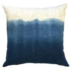 Bring easy sophistication, a vibrant blue ombre color and down-to-earth elegance into your home with the Ink Tapestry Pillow from Sugarboo Designs. The subtle texture of linen in this decorative accessory delivers simple, contemporary luxury to the living room or the bedroom.