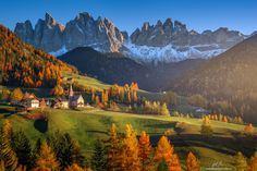 "Val di Funes - Classic View of Val di Funes, South Tyrol, Italy.  if you like my work, you can follow me on  <a href=""http://www.facebook.com/guerelsahinpictures"">FACEBOOK</a> <a href=""https://instagram.com/guerelsahinpictures/"">INSTAGRAM</a> <a href=""http://www.guerelsahinpictures.com"">WEBSITE</a> <a href=""http://www.pinterest.com/guerelsahin/"">PINTEREST</a>"