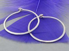 Hoop earrings, small hoop earring, sterling silver hoop earring - pinned by…