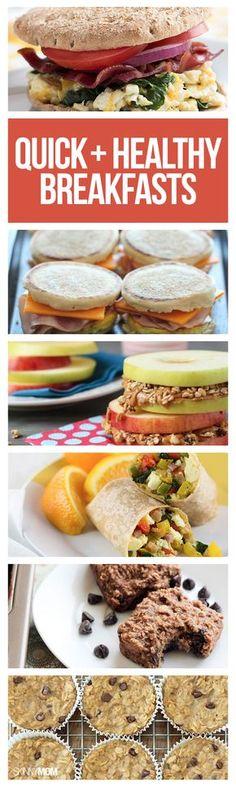 Quick, healthy breakfast recipes.