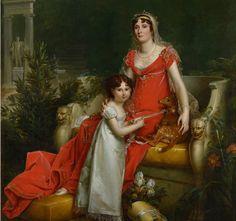François Gérard - Elisa Bonaparte with her daughter Napoleona Baciocchi 1810 (cropped)