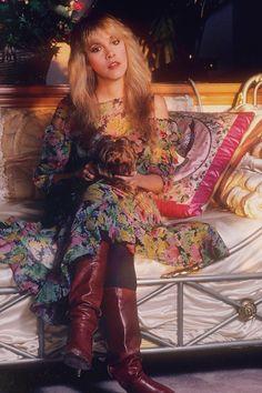 Pale Pink Satin worn out in a Week - Stevie Nicks, 1982.