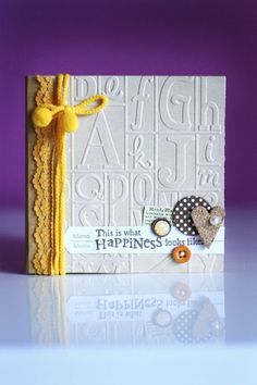Crafting ideas from Sizzix UK: Loredana Bucaria-letters as cover page