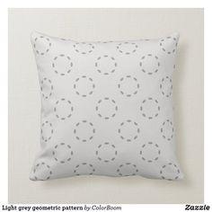 Light grey geometric pattern throw pillow Grey Home Decor, Grey Cushions, Shop Lighting, Custom Pillows, Art Pieces, Throw Pillows, Pattern, Fabric, Color