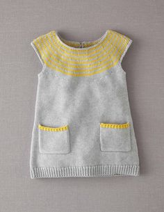 Knitted Dress. I think pickles has a similar dress pattern and I LOVE the grey and yellow.