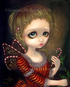 Candy Cane Angel Christmas Fairy by Jasmine Becket-Griffith