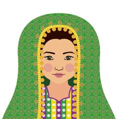 Afghan matryoshka.  Etsy artist creates prints of traditional dress from cultures around the world.  http://openyourworld.co.za/ - breaking language barriers across the world