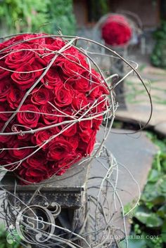 could bring in stands and do large balls of floral with string or twiggy accents which could be moved to the reception later.