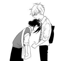 Mamura Daiki & Suzume Yosano @ Hirunaka no Ryuusei Anime Love Couple, Cute Anime Couples, Daytime Shooting Star, Tsubaki Chou Lonely Planet, Hirunaka No Ryuusei, Light In, Manga Cute, Manga Pages, Manhwa Manga