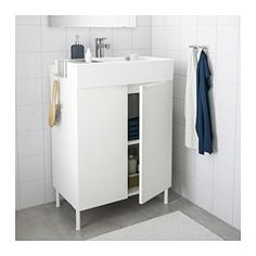 "LILLÅNGEN Sink cabinet with 2 doors, white - white - white - 23 5/8x16 1/8x34 1/4 "" - IKEA"