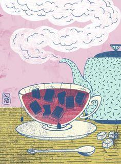 Il materasso reca ancora traccia dell'unica volta che ho provato a leggere nel letto bevendo un té. Bravi voi. Buonanotte.