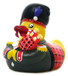 Bagpipe playing rubber duckie!
