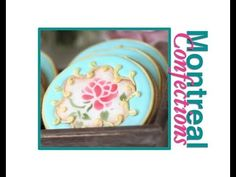 ▶ How to stencil cookies - Vintage Tea Party Cookies - Mother's Day Cookies - YouTube