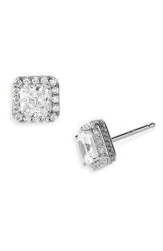 Nordstrom Pavé Square Stud Earrings available at #Nordstrom  #nordstromweddings