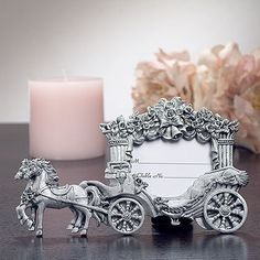 Your #wedding sure to be a magical day, so whether you're going with a Cinderella wedding theme or you just want to show your guests that your dreams are coming true, these wedding place card holders certainly will add to your fairytale inspired wedding. It's a wonderful idea for #weddingfavors.