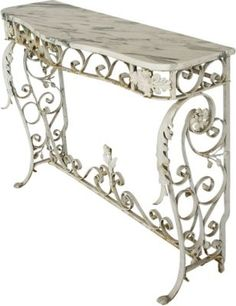 Antique French Iron-Base Table  $2,339.00  $5,600.00 Estimated Market Value    Era:  Antique  Condition:  Good; minor flaws from age and use