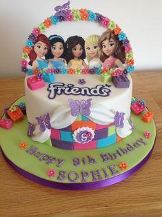 Lego Friends Cake, Lego Friends Birthday, Lego Friends Party, 7th Birthday Cakes, Lego Birthday Party, Zoe Cake, Lego Cake, Custom Cakes, Wedding Cake Toppers