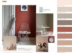 Styling LADY fargekart Beach Paint Colors, Wall Paint Colors, Paint Colors For Living Room, Room Ideas Bedroom, Bedroom Colors, Paint Color Combos, Hallway Colours, Masculine Interior, Colour Architecture