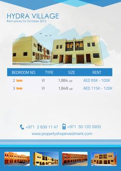 Starting Prices on Prices for Rent in Hydra Village