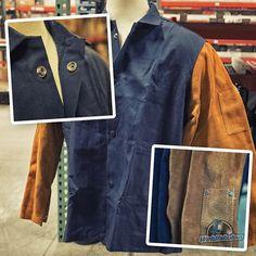 a4322b29cab0 Steiner 1260 Weldlite Plus Hybrid FR Cotton with Leather Sleeves Welding  Jacket