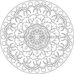 Flower Mandala Coloring Pages Mandala Coloring Pages, Adult Coloring Pages, Coloring Books, Colouring, Doodle Drawings, Doodle Art, Pencil Drawings, Mandalas For Kids, Flower Mandala