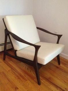 New York: Finn Juhl Style Custom Mid Century Arm chair in white leather $1150 - http://furnishlyst.com/listings/1132338