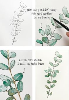 beginners-line-and-wash-eucalyptus-painting Anfänger-Line-and-Wash-Eukalyptus-Malerei The post Anfänger-Line-and-Wash-Eukalyptus-Malerei appeared first on Frisuren Tips. Anfänger-Line-and-Wash-Eukalyptus-Malerei The Watercolor Paintings For Beginners, Beginner Painting, Watercolour Tutorials, Watercolor Techniques, Art Techniques, Watercolour Painting, Painting & Drawing, Painting Flowers, Painting Tools