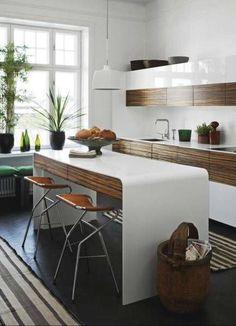 Modern Dark Wood Kitchen a dark and handsome kitchen | kitchens, walnut cabinets and