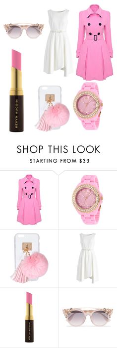 """#LovelyAndPink😗💗"" by churchgirl1205 ❤ liked on Polyvore featuring WithChic, Jivago, Ashlyn'd, Chicwish, Kevyn Aucoin and Jimmy Choo"
